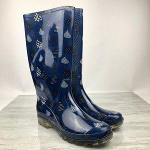 Tom's Blue Tall Rain Boots